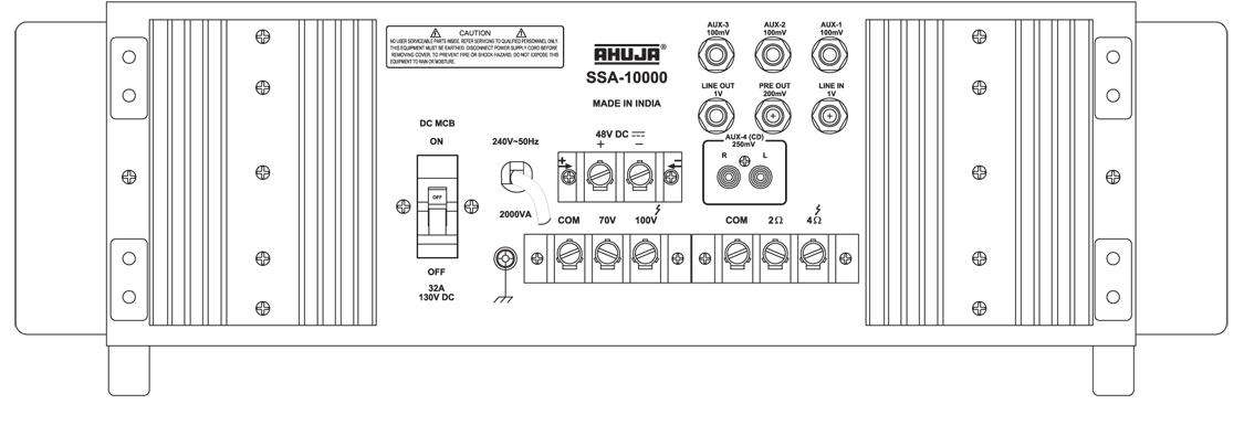 0010449 SSA 10000 BV, Ahuja SSA-10000 1000Watts High Wattage PA Mixer Amplifier